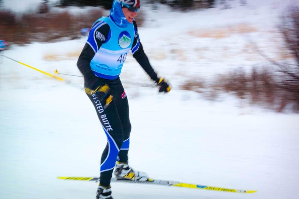Nordic Ski racer in Crested Butte