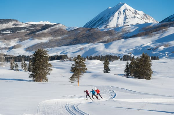 Group Nordic Skiing in Crested Butte Colorado
