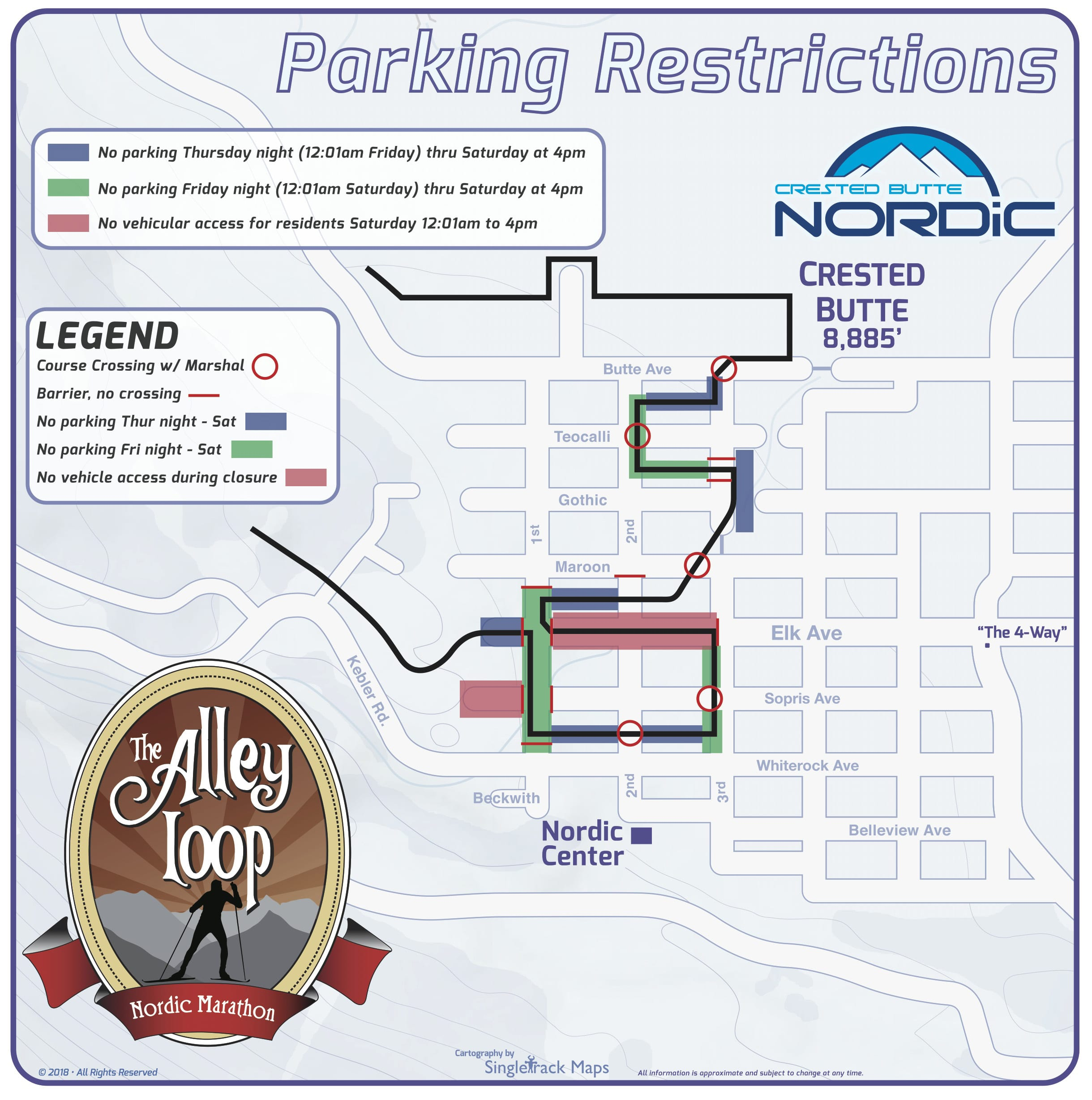Crested Butte Nordic Parking Restrictions