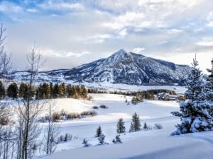 Mount Crested Butte in Winter