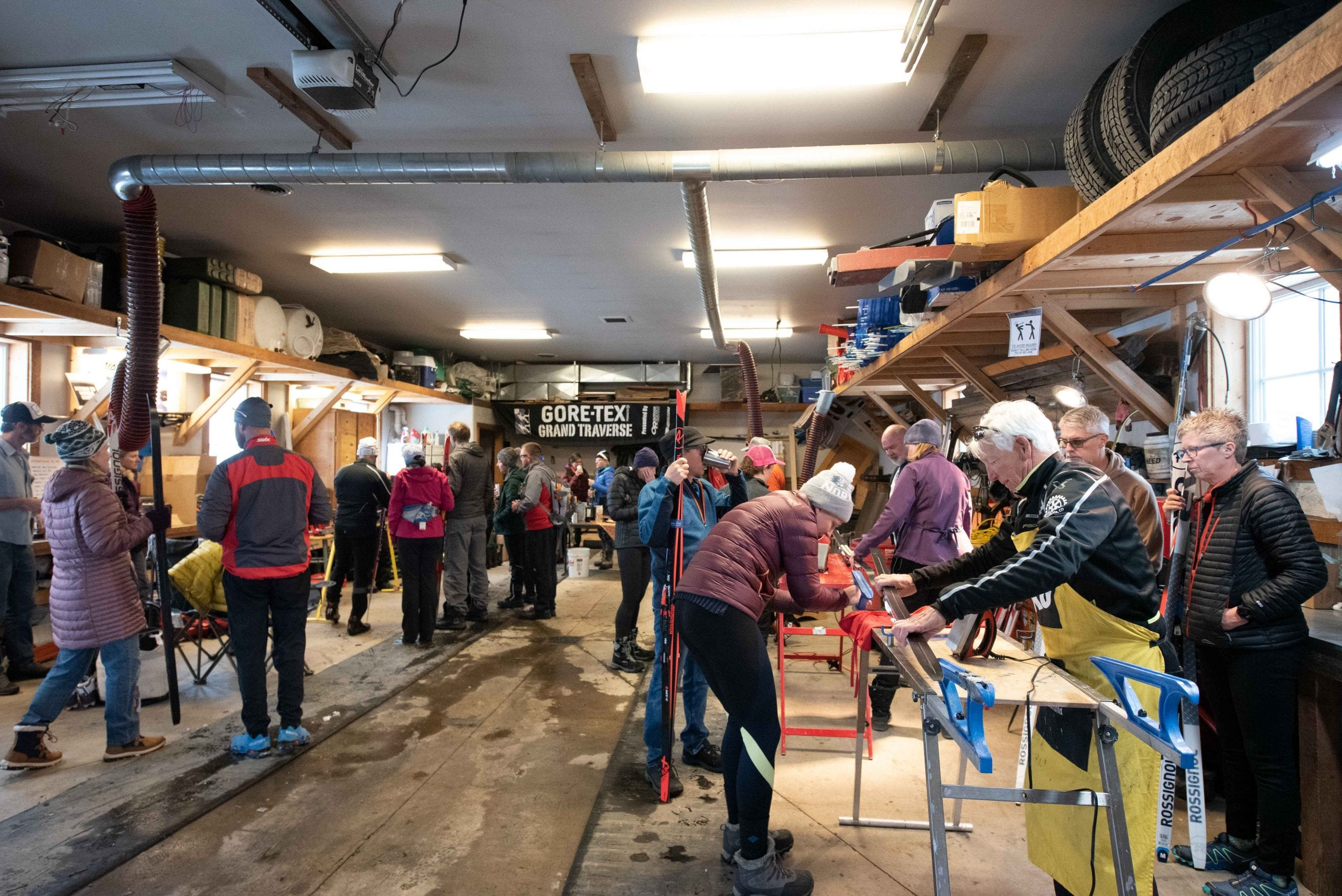 Thanksgiving Camp waxing clinic at Crested Butte Nordic