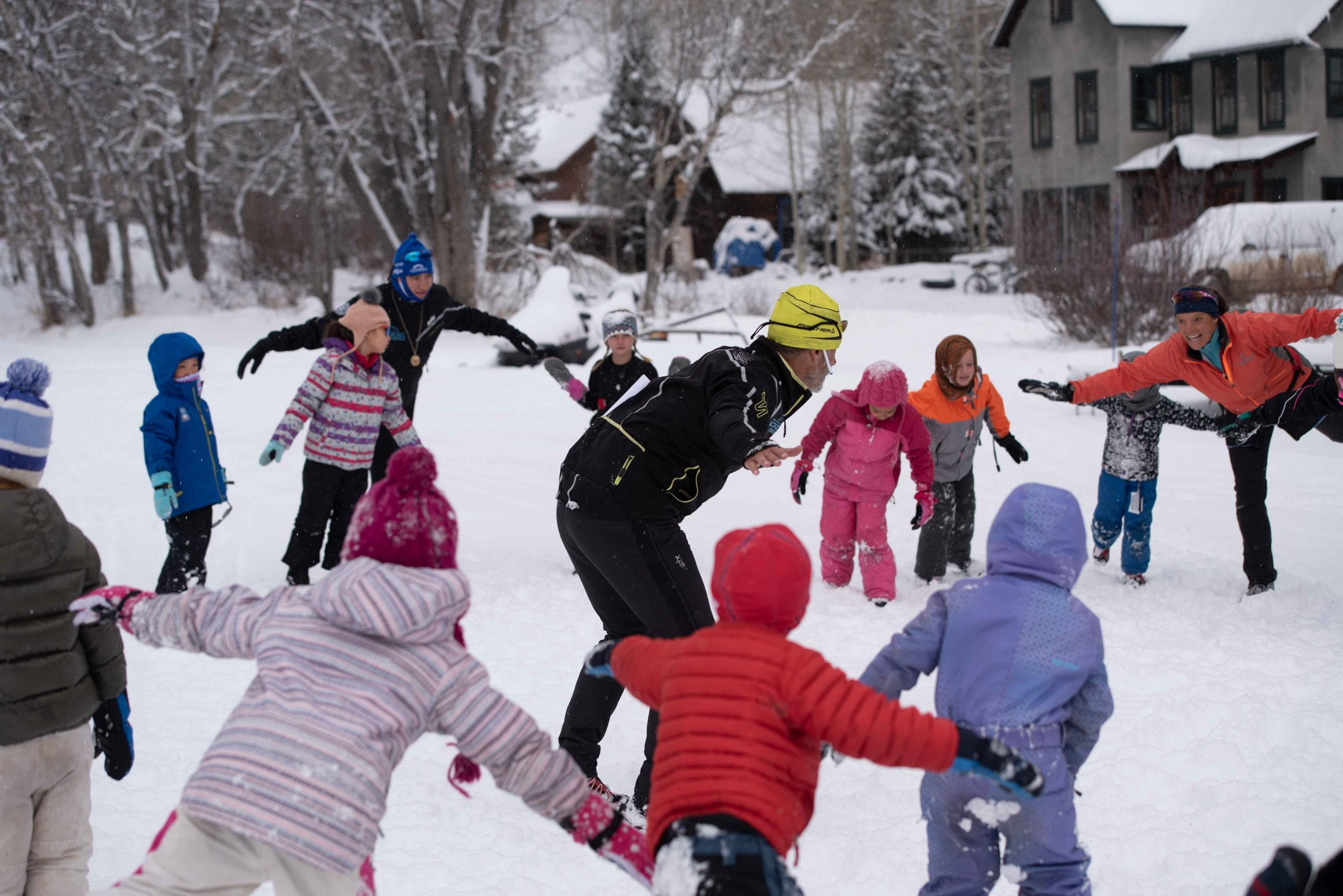 Thanksgiving Camp youth ski clinic at Crested Butte Nordic