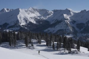 Scenic Nordic skiing in Crested Butte