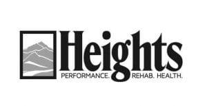 Heights black & white logo