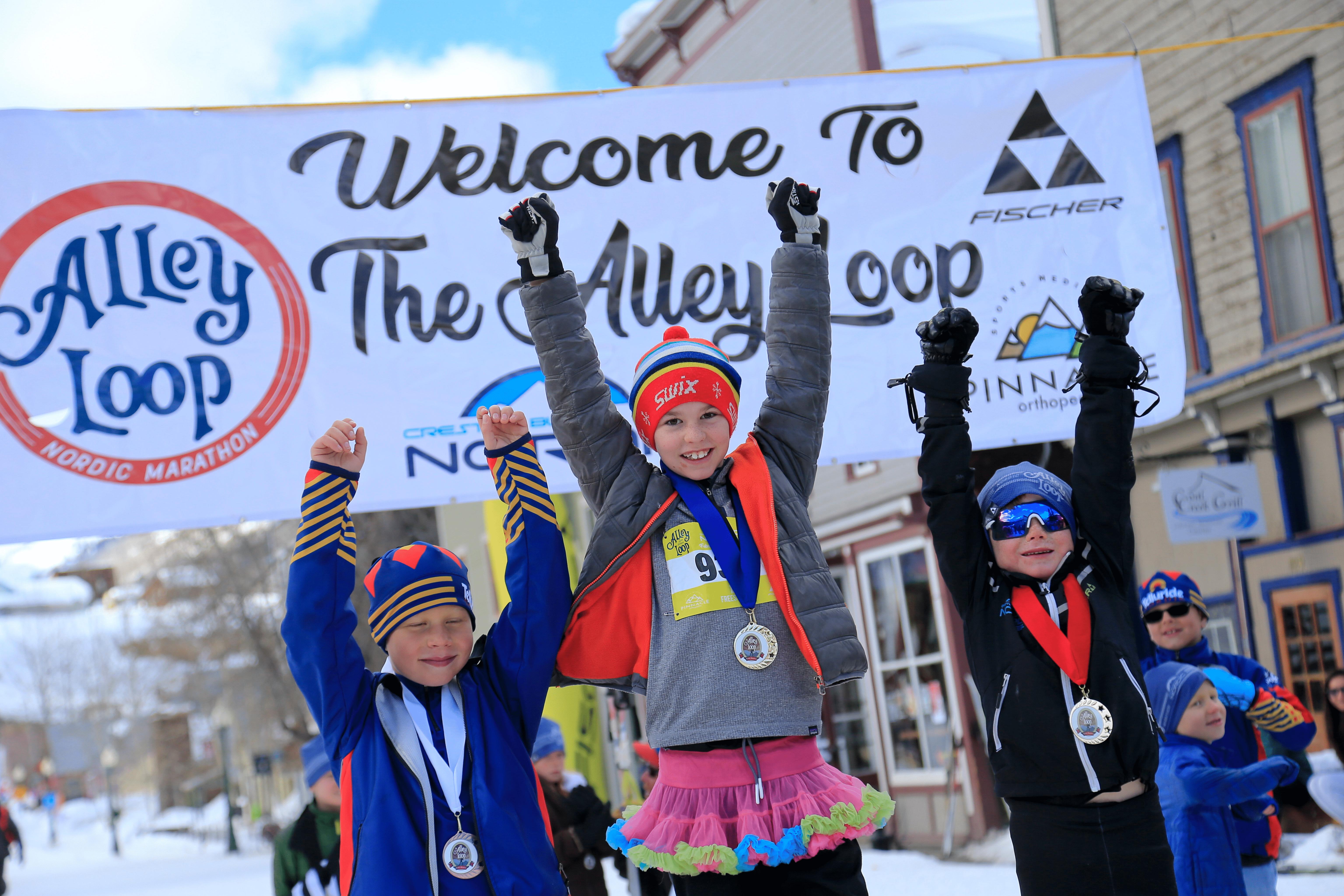 Alley Loop kids race winners on podium