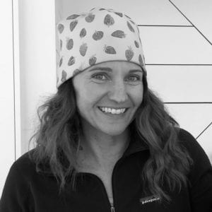 Jenn headshot at Crested Butte Nordic in black and white