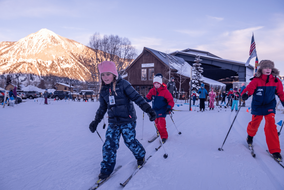 kids nordic ski at crested butte