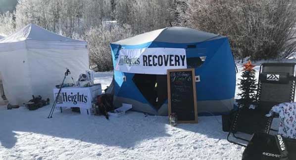 Heights recovery tent