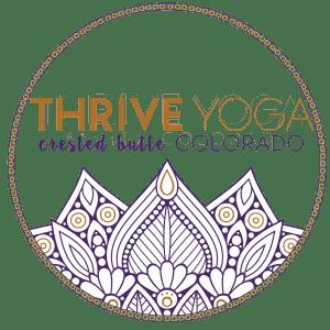 Thrive Yoga circular logo