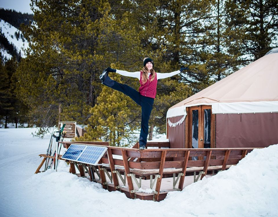 Yoga at the yurt