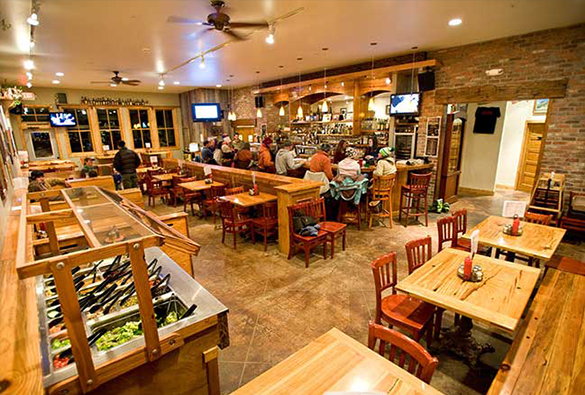 Dining at the Brick Oven