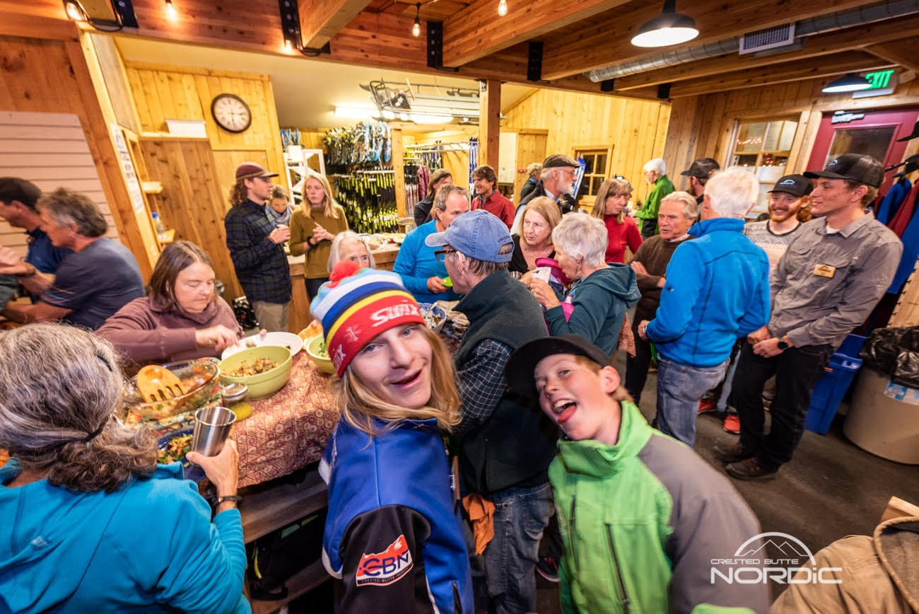 2018 Fall Potluck at Crested Butte Nordic warming house