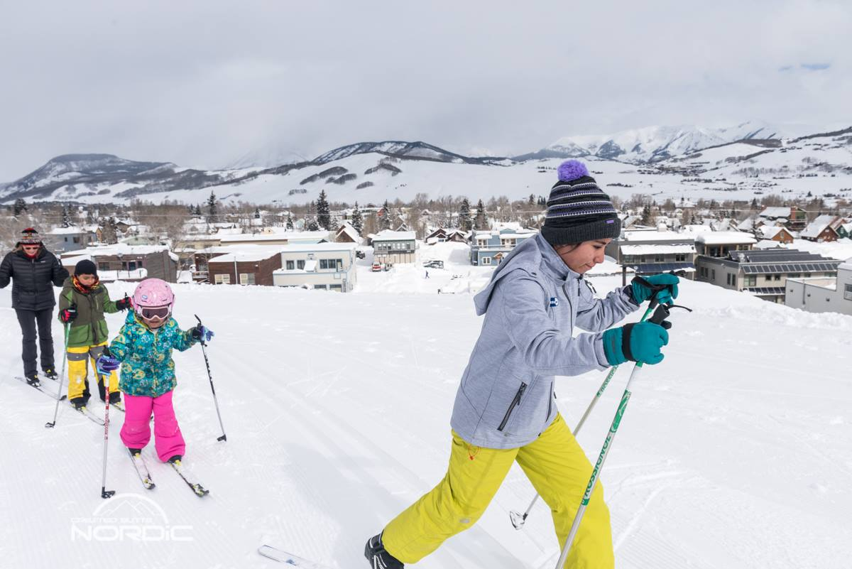 Youth skiers participating in Community Outreach program
