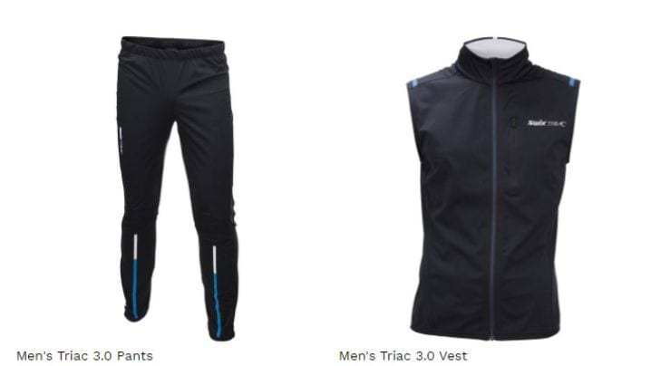 Men's Triac pants and vest available in the shop