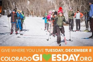 """Colorado Gives Day """"Ski for PE"""" ad for Crested Butte Nordic"""