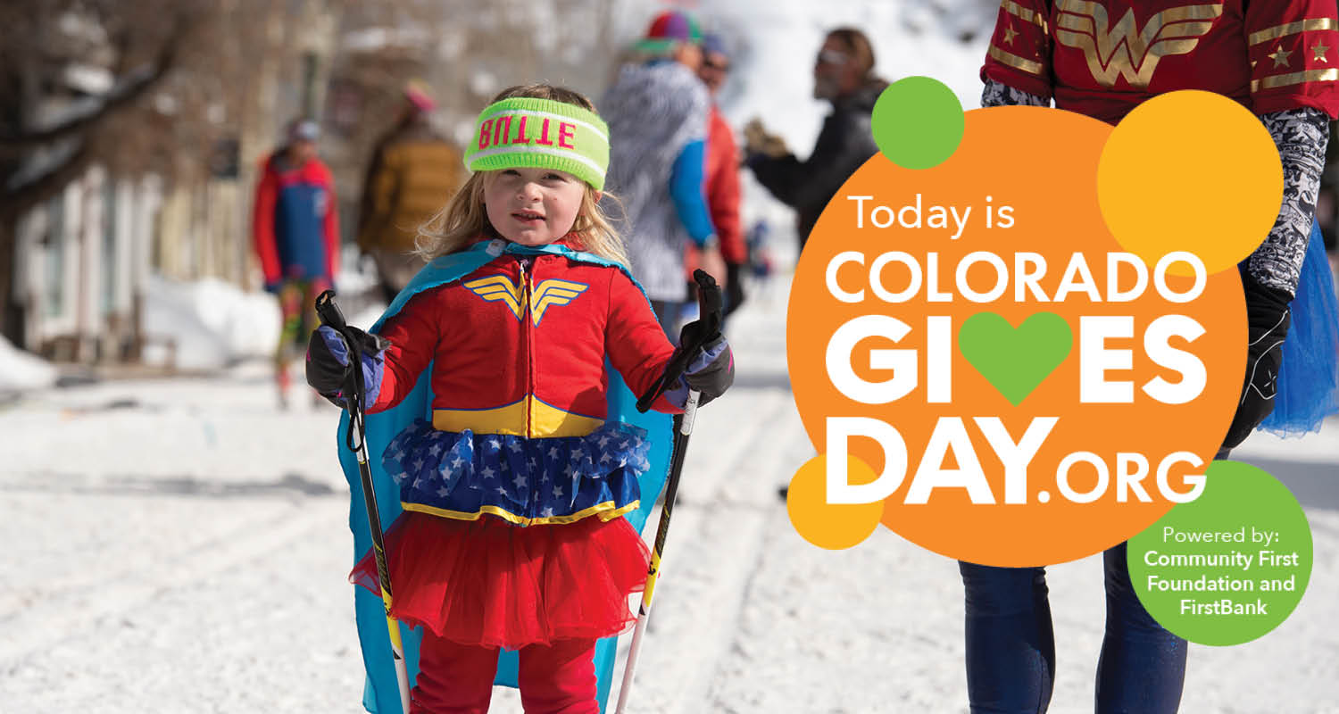 Colorado Gives Day ad for Crested Butte Nordic