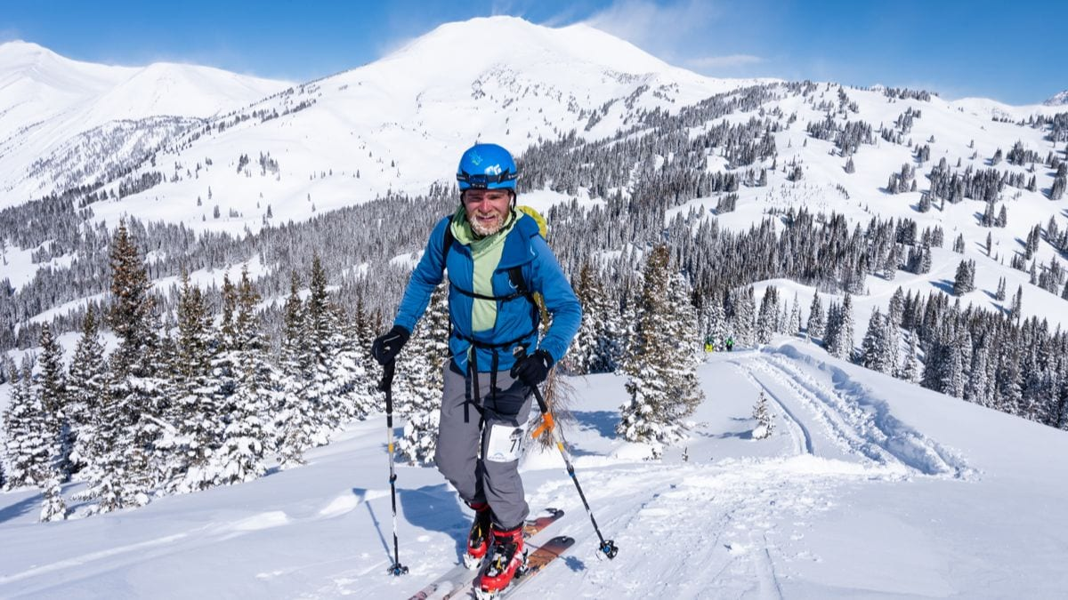 Gothic Mountain Tour participant on course in Crested Butte backcountry