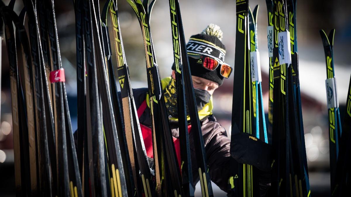 Fischer Rep and fleet of demo skis