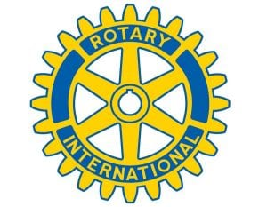 Rotary logo in blue & yellow