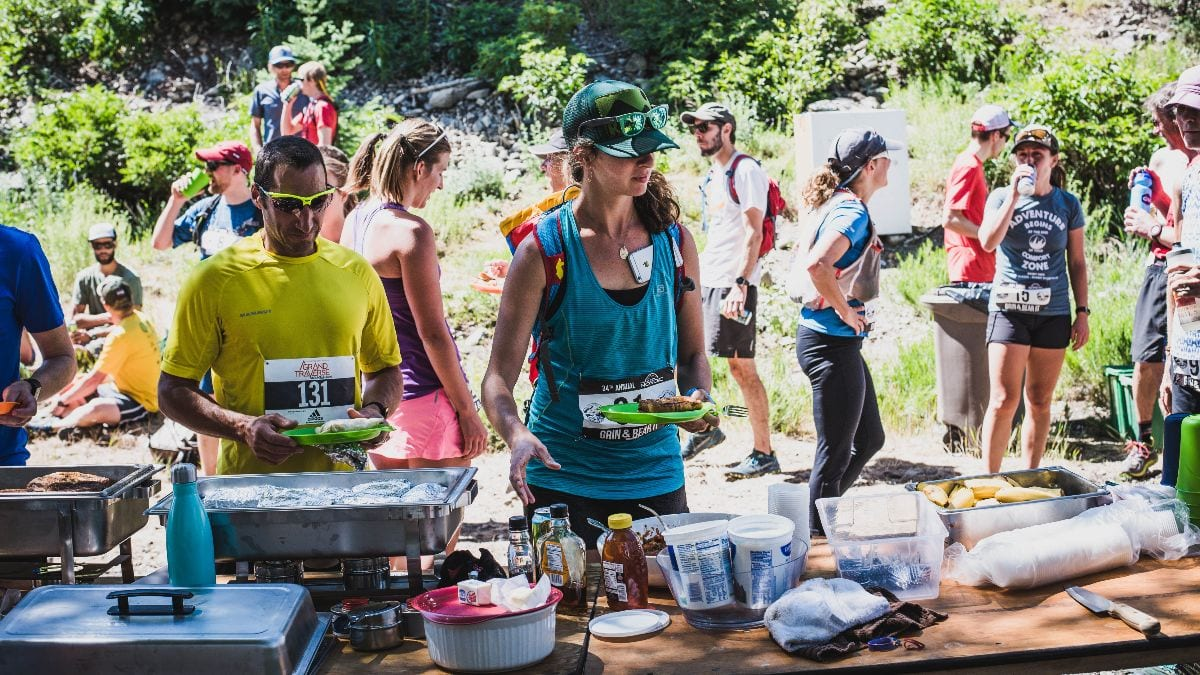 Post-race scene at the Grin & Bear It in Crested Butte