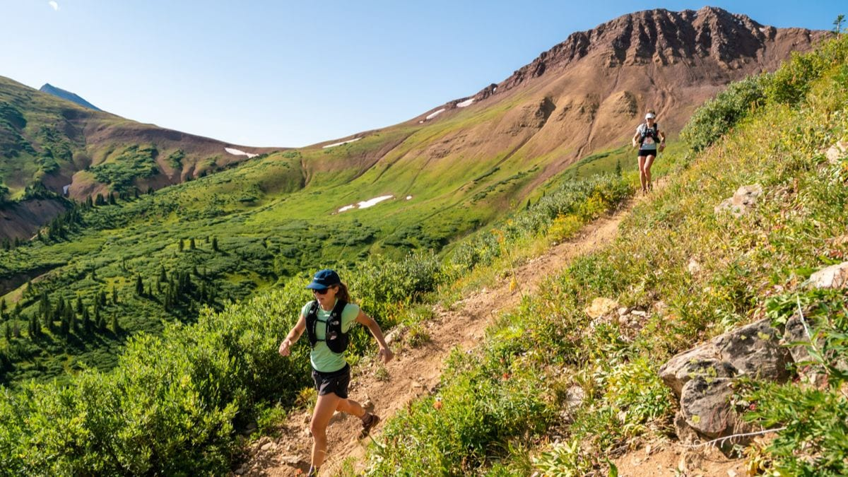 Runners on course for the Summer Grand Traverse